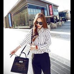 Sisi Fashion - Striped Chiffon Shirt
