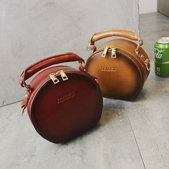 Secret Garden - Faux Leather Round Shoulder Bag