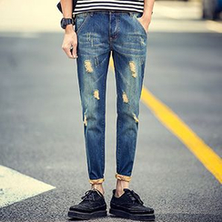 Gurun Vani - Distressed Tapered Jeans