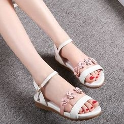 Romantina - Floral Genuine Leather Sandals