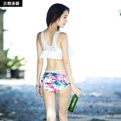 rosiwini - Set: Print Swim Top + Swim Skirt + T-Shirt