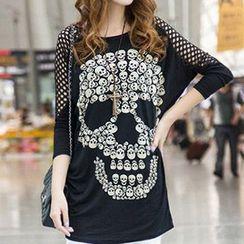 Rocho - Skull Print T-Shirt