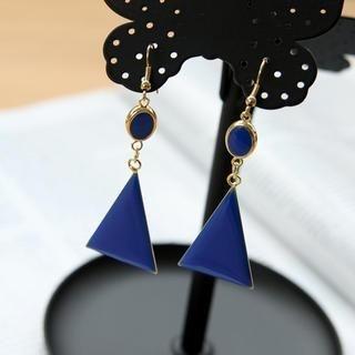 Petit et Belle - Geometric Segment Earrings