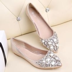 EMIL - 缀饰平跟鞋