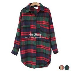 Ho Shop - Drop-Shoulder Check Long Shirt