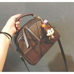 Youshine - Applique Faux Leather Crossbody Bag