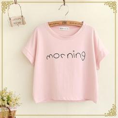 Fairyland - Boxy Cropped Print T-Shirt