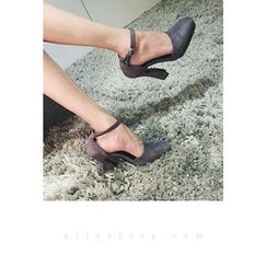 ATTYSTORY - Faux-Suede High-Heel Pumps