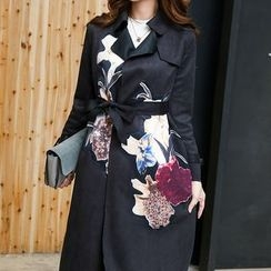Jolly Club - Printed Trench Coat