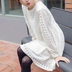 Fashion Street - Lace Long-Sleeve Dress