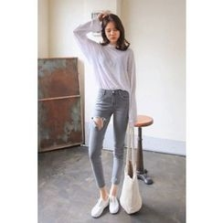 PPGIRL - Distressed Skinny Pants