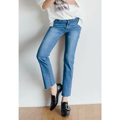 REDOPIN - Washed Cropped Jeans