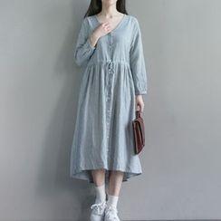Clover Dream - Long-Sleeve A-line Mid Dress