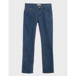 STYLEMAN - Plain Straight-Cut Jeans