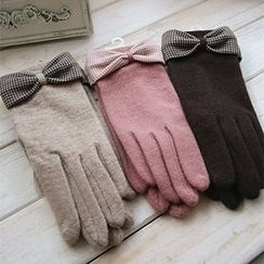 Rose Shop - Bow-Accent Gloves