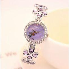 Tiamo - Clover Rhinestone Bracelet Watch