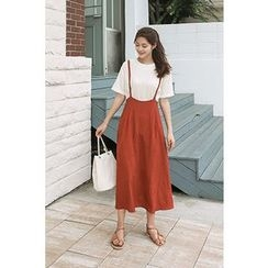CHERRYKOKO - Suspender A-Line Long Skirt