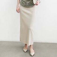 NANING9 - Elastic-Waist Maxi Skirt