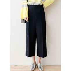 J-ANN - Zip-Side Wide-Leg Pants