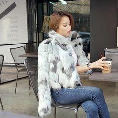 DABAGIRL - Open-Front Faux-Fur Jacket