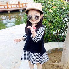 CUBS - Kids Long-Sleeve Panel A-line Dress