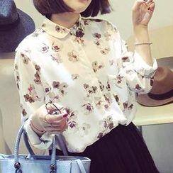 Eva Fashion - Floral Chiffon Blouse