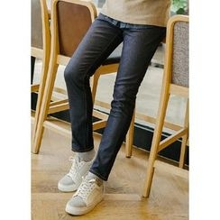 JOGUNSHOP - Stitched Fleece-Lined Jeans