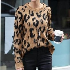 CHICFOX - Leopard Print Sweater