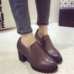 Crystella - Block Heel Ankle Boots