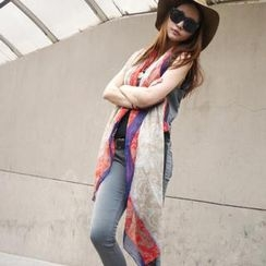 Cuteberry - Color-Block Patterned Scarf