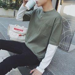 子俊 - 假兩件長袖T恤
