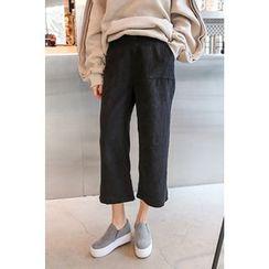 PPGIRL - Wide-Leg Corduroy Pants