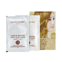 Nature Republic - Hair & Nature Hair Color Cream (Bleach): Powder 10g + Oxidizing Lotion 30g