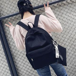 Aceline - Plain Canvas Backpack