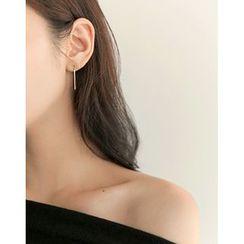 UPTOWNHOLIC - Metallic Drop Earrings