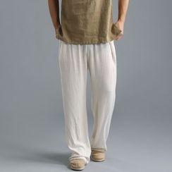 Sparrow Farm - 純色直筒長褲