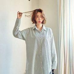Seoul Fashion - Pocket-Front Shirtdress