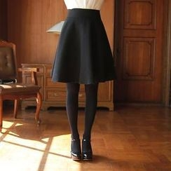 MyFiona - Wool-Blend A-Line Midi Skirt