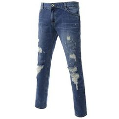 TheLees - Straight-Cut Distressed Jeans