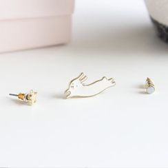 Ginga - Set of 3: Rabbit Earrings