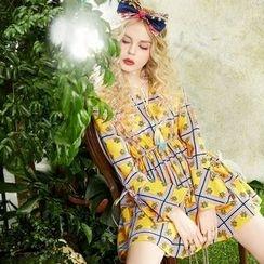 ELF SACK - Long-Sleeve Printed Dress