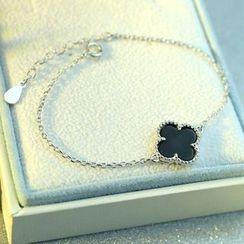 Kitty Kiss - 925 Sterling Silver Leaf Bracelet