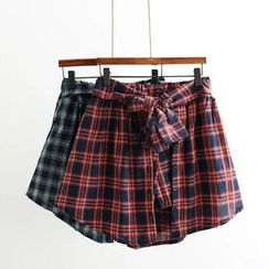 Angel Love - Plaid A-Line Skirt