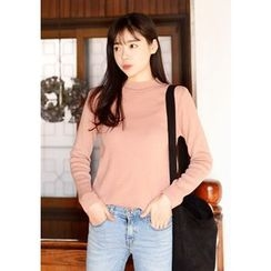 DEEPNY - Monk-Neck Knit Top