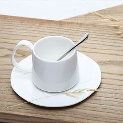 Gukan - Set : Ceramic Cup + Plate