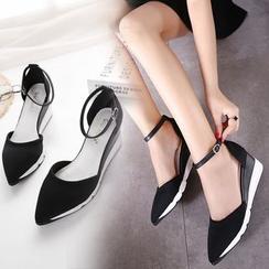 KIMI - Pointed Hidden Wedge Sandals