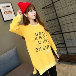 Maine - Printed Slit-Side Long Pullover