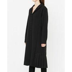 Someday, if - Pleated-Trim Midi Shirtdress