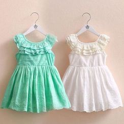 Seashells Kids - Kids Frill Trim Sleeveless A-Line Dress