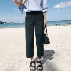 YUBUER - Cropped Wide Leg Pants